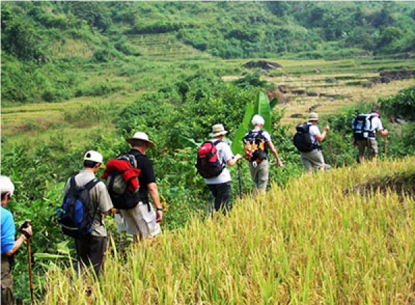 Hard trekking to remote villages